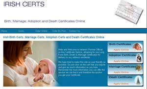 Irish Birth Certs